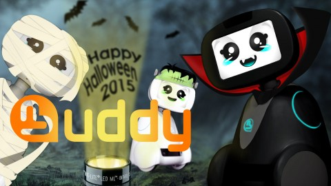 Happy Halloween from Blue Frog Robotics and BUDDY!