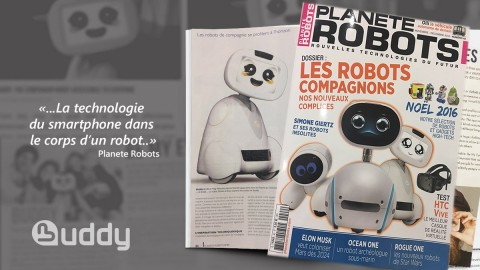 Buddy in the Planete Robots magazine