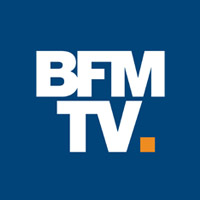 BFM TV 2019 logo with Buddy the robot